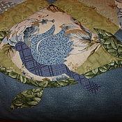"""Для дома и интерьера ручной работы. Ярмарка Мастеров - ручная работа Лоскутное одеяло """"Синяя птица"""".. Handmade."""