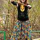 Ethnic Clothing handmade. Livemaster - handmade. Buy Punching 'Shamanic'.Ornament, afghani, cotton