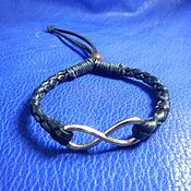Украшения handmade. Livemaster - original item Braided Infinity leather bracelet. Handmade.