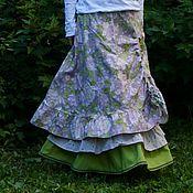 Одежда ручной работы. Ярмарка Мастеров - ручная работа Летняя пышная юбка нежно-сиреневая. Handmade.