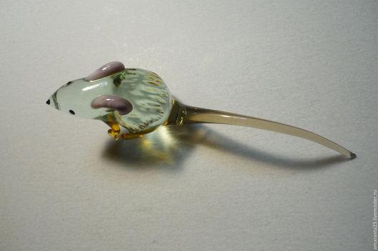 Миниатюрные модели ручной работы. Ярмарка Мастеров - ручная работа. Купить Мышка, стекло.. Handmade. Мышка, сувенир, подарок