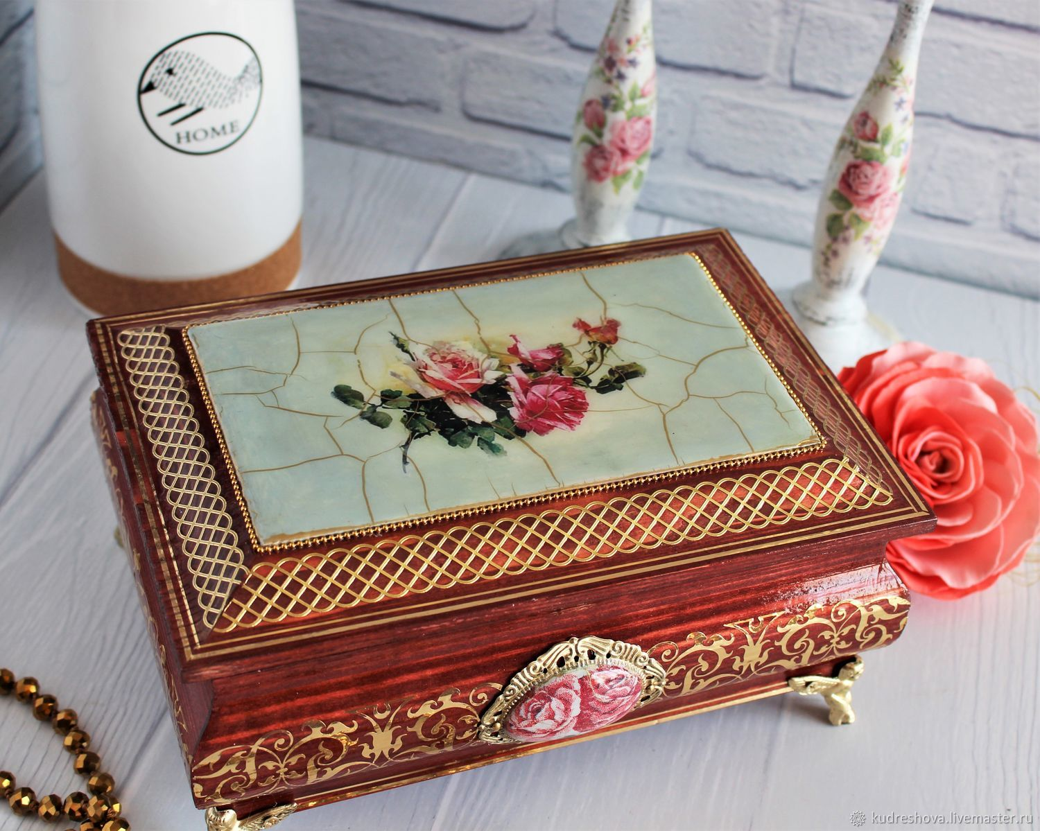 Jewelry box Roses, Box, Frolovo,  Фото №1