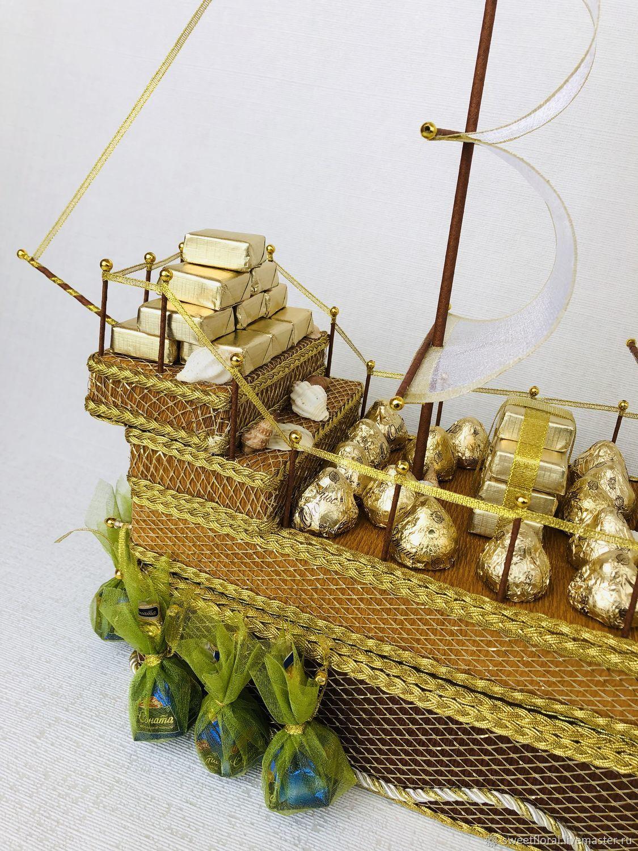 корабль из конфет своими руками пошаговое фото это, порой