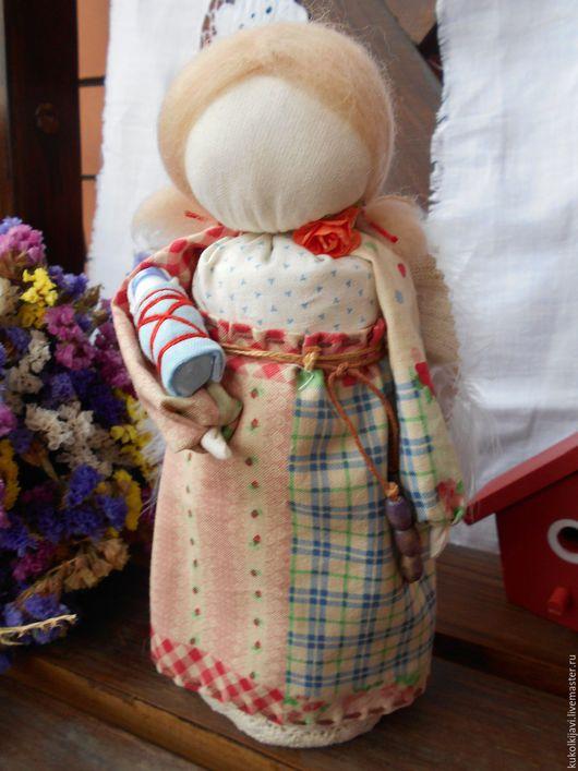 """Народные куклы ручной работы. Ярмарка Мастеров - ручная работа. Купить Кукла образ """"Ангел хранитель"""". Handmade. Бежевый, ангел"""