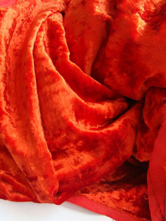 Куклы и игрушки ручной работы. Ярмарка Мастеров - ручная работа. Купить 135 х 50 см. Плюш красный, винтаж.. Handmade.