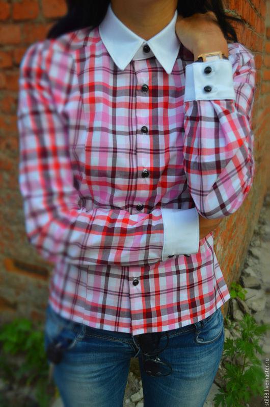 """Блузки ручной работы. Ярмарка Мастеров - ручная работа. Купить Блузка """"Spring style"""". Handmade. Розовый, блузка женская"""