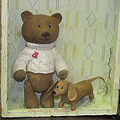 Куклы и игрушки ручной работы. Ярмарка Мастеров - ручная работа Мишка с собачкой. Handmade.