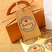 "Наклейки ""thank you"", декор, для бирок, коробочек"