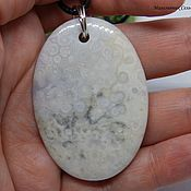 Украшения handmade. Livemaster - original item Pendant Ancient white sea (rock, rhyolite). Handmade.