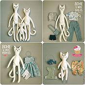 Куклы и игрушки handmade. Livemaster - original item Cat, Kitty and Kitten - cocosuma. Handmade.
