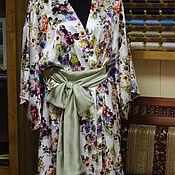 """Одежда ручной работы. Ярмарка Мастеров - ручная работа Очаровательное кимоно с поясом-бантом """"Japanese Rose"""" для Изысканной Л. Handmade."""