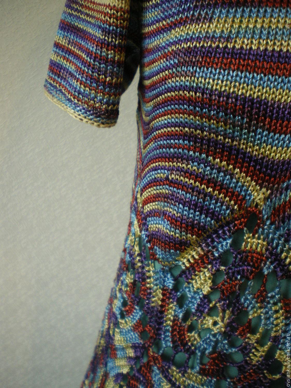 """Платья ручной работы. Ярмарка Мастеров - ручная работа. Купить Платье вязаное""""Палитра настроения"""". Handmade. Радуга, комбинированный, платье готовое"""