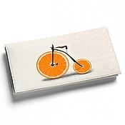 Сумки и аксессуары ручной работы. Ярмарка Мастеров - ручная работа Кошелек кожаный женский Оранжевый велосипед - Спортивный. Handmade.