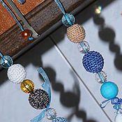 Украшения ручной работы. Ярмарка Мастеров - ручная работа вязаные бусы. Handmade.