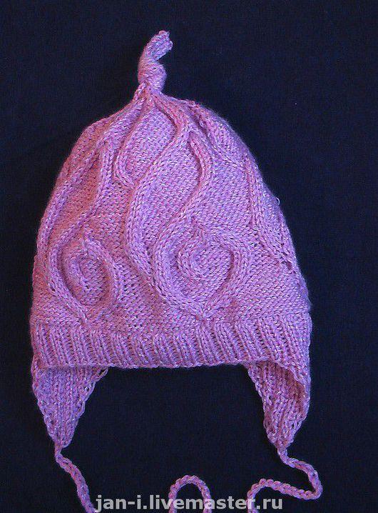 Шапки и шарфы ручной работы. Ярмарка Мастеров - ручная работа. Купить Зимняя шапка для девочки. Handmade. Акрил, шерсть, лён