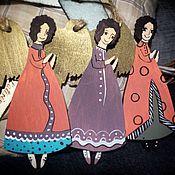 Подарки к праздникам ручной работы. Ярмарка Мастеров - ручная работа Ангелы розово-фиолетовые. Handmade.