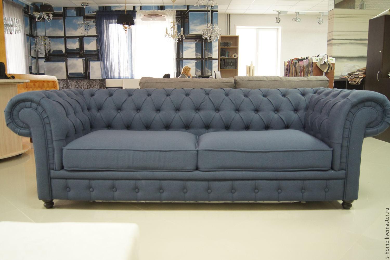 тканевый диван честер с четкой каретной стяжкой архив строим дом