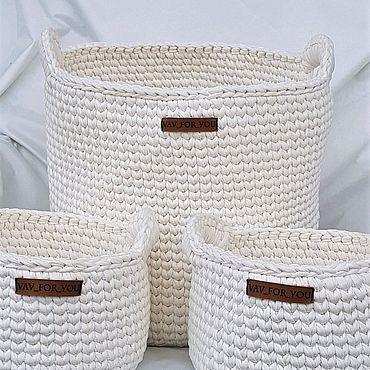 Для дома и интерьера ручной работы. Ярмарка Мастеров - ручная работа Комплект интерьерных корзин. Handmade.