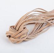 Материалы для творчества ручной работы. Ярмарка Мастеров - ручная работа Кожаный шнур (№24, ширина 3мм, толщ. 1,0-1,5мм). Handmade.