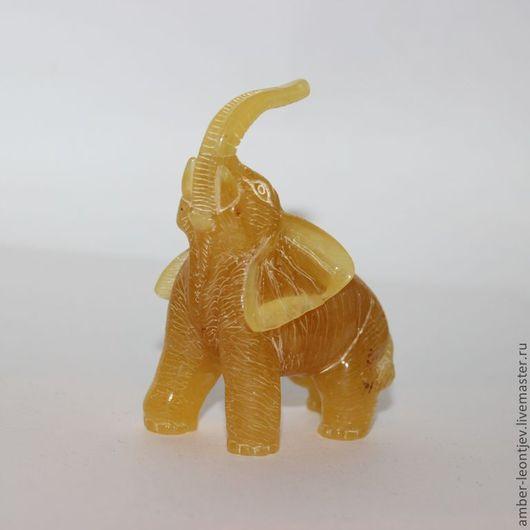"""Статуэтки ручной работы. Ярмарка Мастеров - ручная работа. Купить Фигурка """"Большой Египетский слон"""" из цельного куска янтаря. Handmade."""