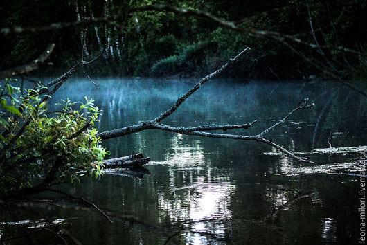 Фотокартины ручной работы. Ярмарка Мастеров - ручная работа. Купить Вечереет. Handmade. Комбинированный, вечер, вода, река, пруд, озеро