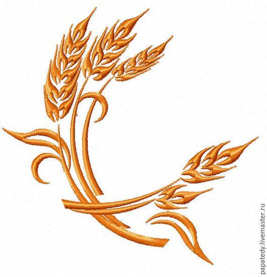 колосья пшеницы- вышивка дизайн для машинной вышивки
