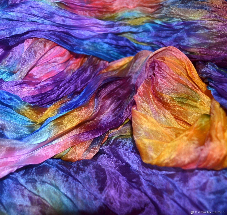 Яркий шелковый шарф палантин разноцветный, Палантины, Вязьма,  Фото №1