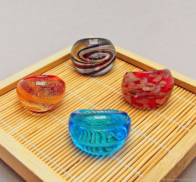 Винтаж:  Коллекция колец из муранского стекла, Кольца винтажные, Ставрополь,  Фото №1