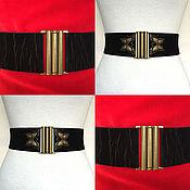 Аксессуары handmade. Livemaster - original item belt with different buckles Black Velvet, with a textured surface. Handmade.