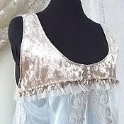 Одежда handmade. Livemaster - original item Tunic style Boho. Pearl beige.. Handmade.