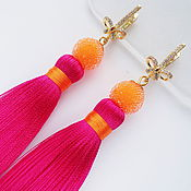 Украшения handmade. Livemaster - original item Earring of the brush