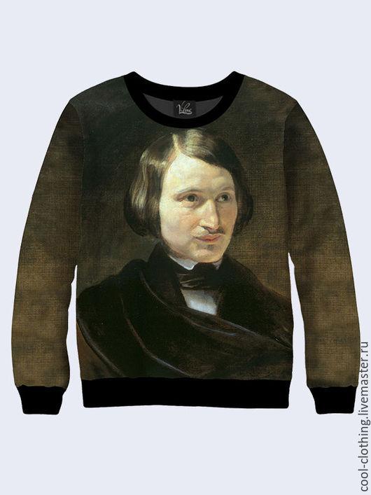 """Кофты и свитера ручной работы. Ярмарка Мастеров - ручная работа. Купить Свитер - свитшот """"Гоголь"""". Handmade. Хаки, повседневная одежда"""