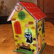 """Для дома и интерьера ручной работы. Ярмарка Мастеров - ручная работа """"Чайный домик""""-фьюзинг,витраж. Handmade."""