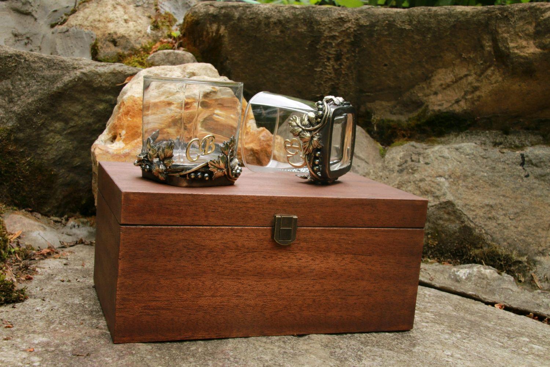 Стакан для виски.Пара в подарочной коробке.Художественное литье.Бронза, Стаканы, Москва,  Фото №1