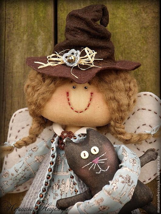 Коллекционные куклы ручной работы. Ярмарка Мастеров - ручная работа. Купить Маленькая Бабя Яга. Девочка Кофейный Ангел.. Handmade.