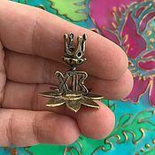 Для дома и интерьера handmade. Livemaster - original item @ Miniature candle holder for a thin candle, made of brass. RUSSIA. Handmade.