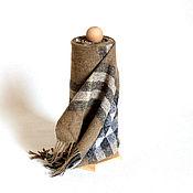 """Аксессуары ручной работы. Ярмарка Мастеров - ручная работа -25% Тканый твидовый шарф """"Burber. Олива"""" Шарф твидовый. Handmade."""