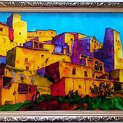 Для дома и интерьера handmade. Livemaster - original item Painting the stained glass Village. Handmade.