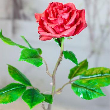 Цветы и флористика ручной работы. Ярмарка Мастеров - ручная работа Красная роза. Handmade.