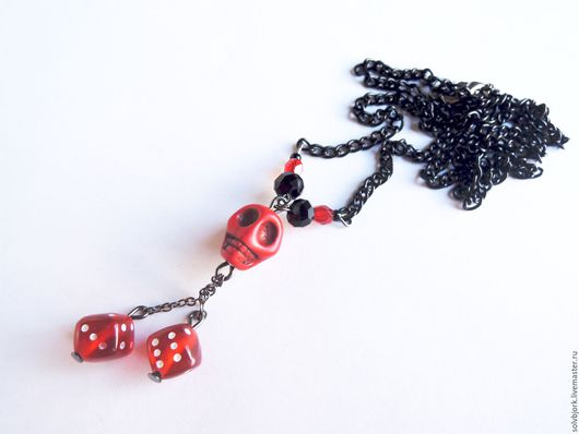 Кулон «Skull and craps» (in red) 350р