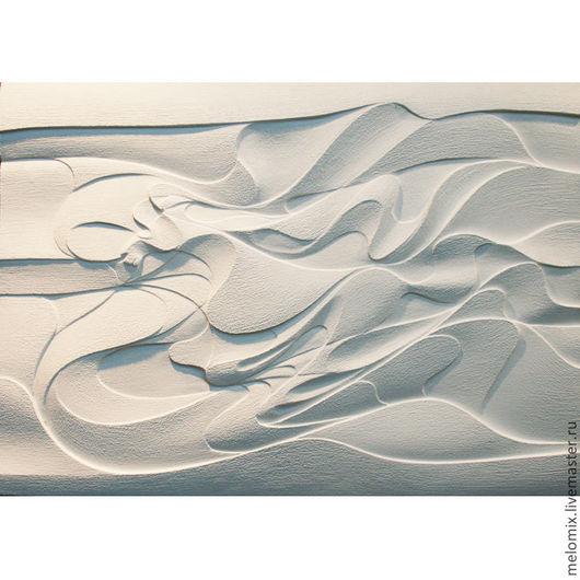 Абстракция ручной работы. Ярмарка Мастеров - ручная работа. Купить панно объемное Сон. Handmade. Белый, символ 2014 года