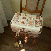 """Сумки и аксессуары ручной работы. Ярмарка Мастеров - ручная работа чемоданчик"""" Vintage toys"""". Handmade."""