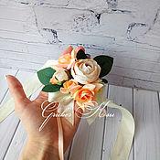 Свадебный салон ручной работы. Ярмарка Мастеров - ручная работа Бутоньерки свадебные на руку. Handmade.