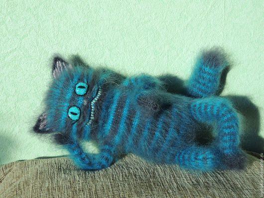Игрушки животные, ручной работы. Ярмарка Мастеров - ручная работа. Купить Чеширский кот. Handmade. Чеширский кот, вязание спицами