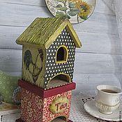 """Для дома и интерьера ручной работы. Ярмарка Мастеров - ручная работа Чайный домик """"Петя, Петя, Петушок....."""". Handmade."""
