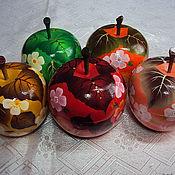 Для дома и интерьера ручной работы. Ярмарка Мастеров - ручная работа Шкатулка яблоко. Handmade.