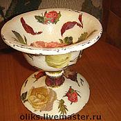 Посуда ручной работы. Ярмарка Мастеров - ручная работа Деревянная вазочка-конфетница. Handmade.