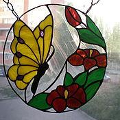 Для дома и интерьера ручной работы. Ярмарка Мастеров - ручная работа Оконное панно Бабочка. Handmade.
