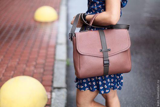 Женские сумки ручной работы. Ярмарка Мастеров - ручная работа. Купить Сумка-портфель. Handmade. Розовый, сумка-рюкзак