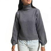 Одежда handmade. Livemaster - original item Women`s sweater Grace hand-knitted, cotton with wool, p. 44-46. Handmade.